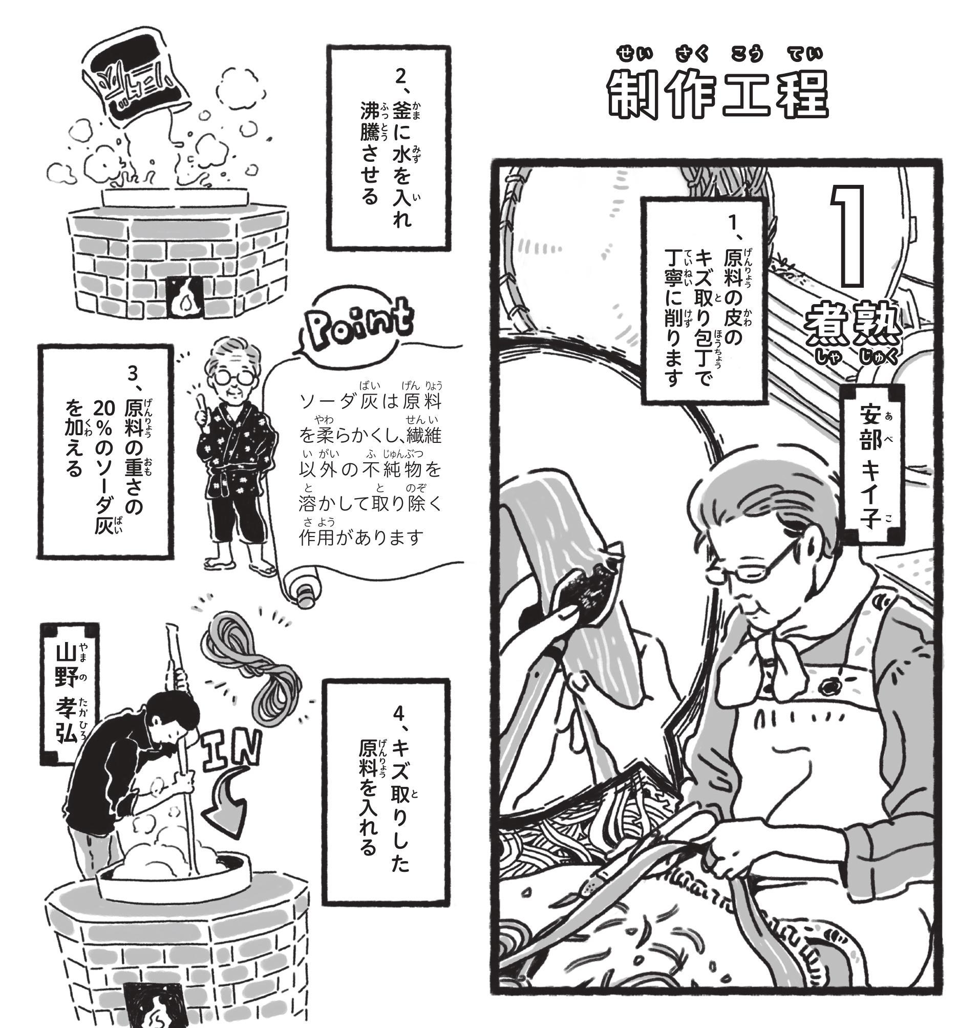 【漫画】手漉き和紙 出雲民藝紙(4)